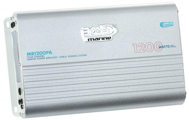 Amplificador de Potência Marinizado Boss Marine c/ PA Integrado 1200 Watts - MR1200PA