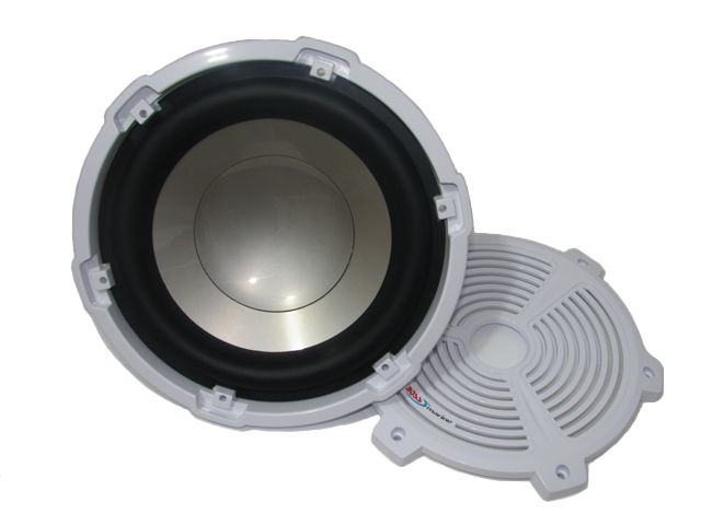 Subwoofer Marinizado Boss Marine 10 polegadas High Quality - Branco - MR105