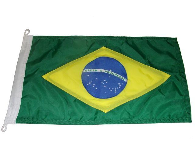 Bandeira do Brasil Dupla Face p/ Embarcações 65x45cm