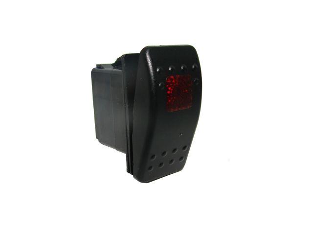 Botão de Painel Com iluminação LED - Preto - 3 pinos - 20A - 12V