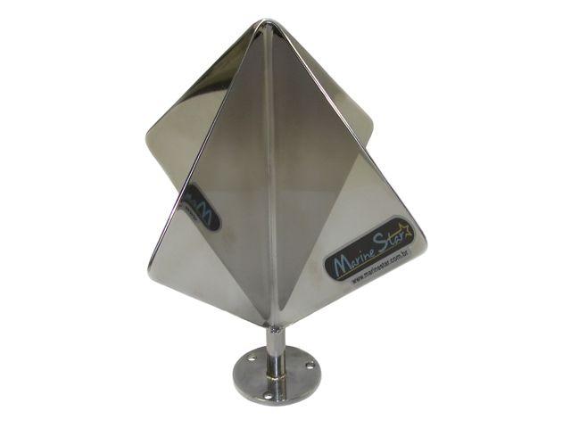 Defletor de Radar em Aço Inoxidável - 19 x 16 cm