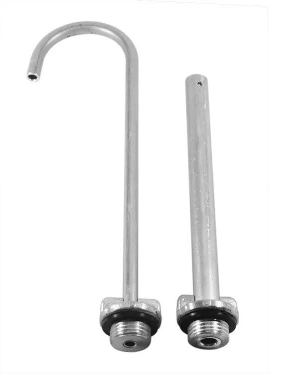 Kit Controle de Nível p/ Viveiro de Isca em Alumínio - Tam: 25mm - Haste: 20 cm