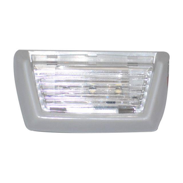 Luz de Cortesia 3 LEDs Sobrepor em ABS Branco, Lente Trasparente - Luz Branca