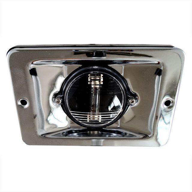 Luz de Alcançado / Espelho de Popa Bulbo c/ Acabamento em Inox - Retangular