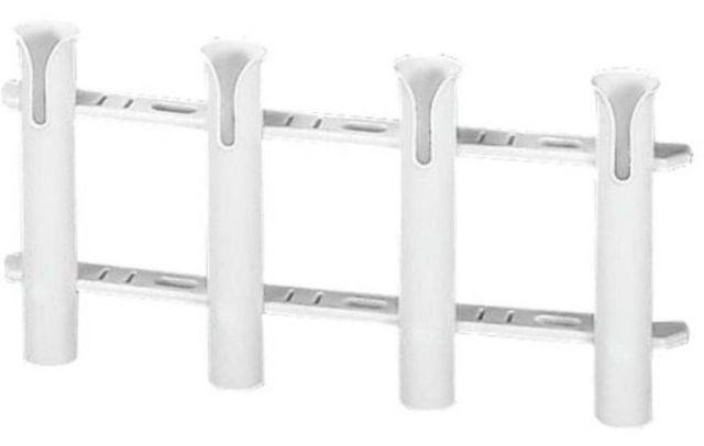 Porta Varas / Caniço Múltiplo Desmontável em Plástico  4 Unidades - Branco
