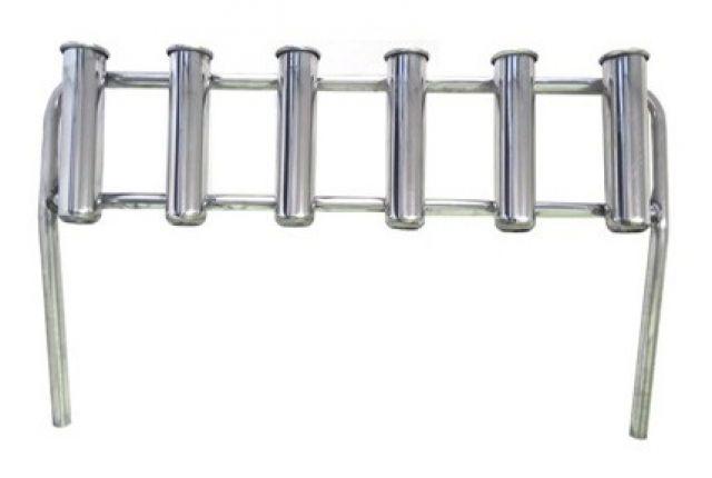 Porta Varas / Caniço (Rack) em Alúminio - p/ 6 varas - Sem Suporte de Fixação