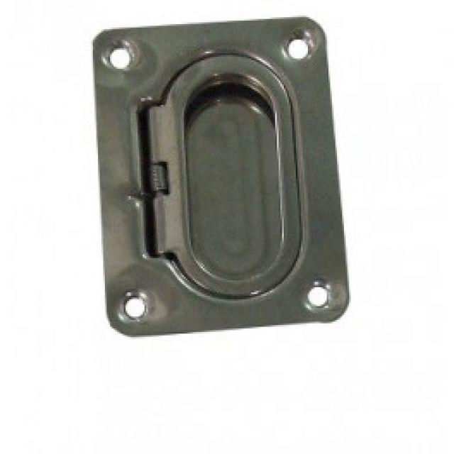 Puxador de Tampas de Embutir em Aço Estampado 2-1/4 x 3 pol - Retangular